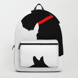 Scottie Dog with Red Bow Backpack