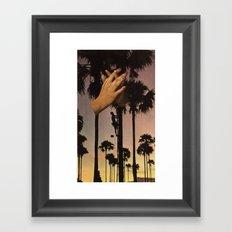 wrapped in fingers Framed Art Print