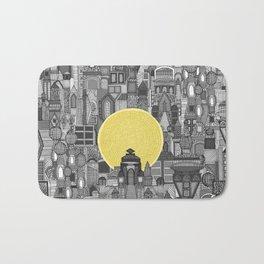 space city sun bw Bath Mat