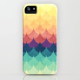 Sailing in Rainbow Waves iPhone Case
