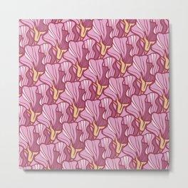 Pink Sweet Peas Metal Print