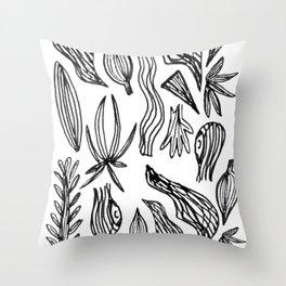 Plant Girl Throw Pillow
