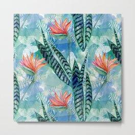 Tropical flowers. Metal Print