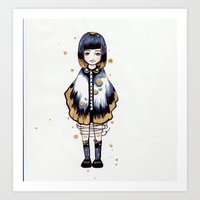 magical girl Art Prints featuring Magical Girl  by Atree