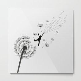 Free Dandelion Metal Print