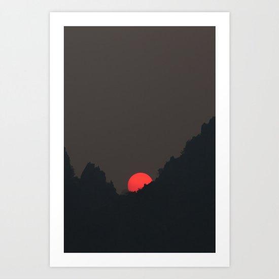 Vang Vieng Sunset (portrait) Art Print