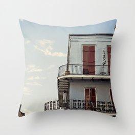 French Quarter Blues, No. 2 Throw Pillow