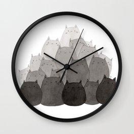 Kitty Pile Wall Clock