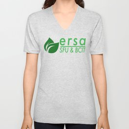 Ecological Restoration Student Association Logo with SFU and BCIT Unisex V-Neck