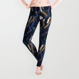 Straight Geometry Ribbons 2 Leggings