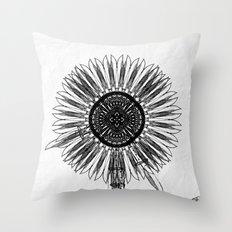 Flower Knife Throw Pillow