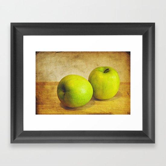 Green Apples Framed Art Print