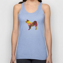 American Akita in watercolor Unisex Tank Top