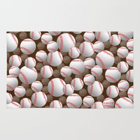 baseball Area & Throw Rugs featuring Baseball by joanfriends