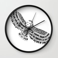 Black and White Barn Owl Beaut Wall Clock