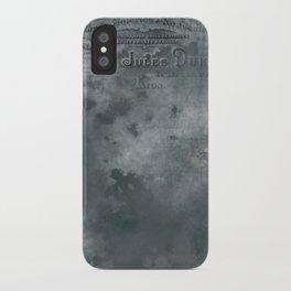 Dark grey letter vintage batic look iPhone Case