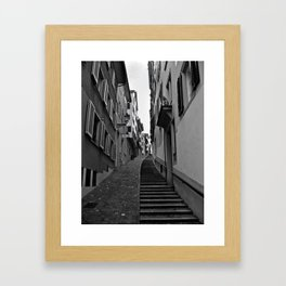 Swiss Alley Framed Art Print