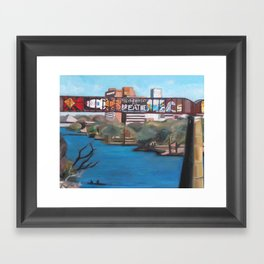 Town Lake Graffiti Austin, TX  Framed Art Print