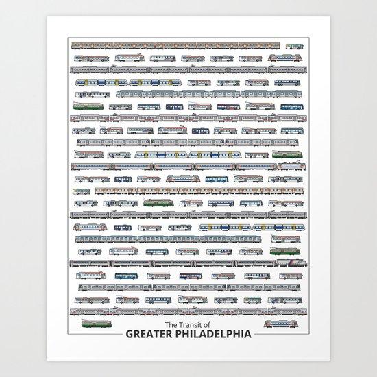 The Transit of Greater Philadelphia Art Print