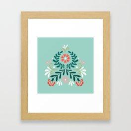 Floral Folk Pattern Framed Art Print