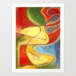 A Beautiful World Through Color Art Print