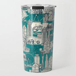 Seattle indigo teal Travel Mug