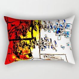ideasjazzyarcoirisconcartasazules Rectangular Pillow