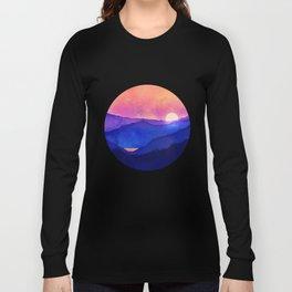 Cobalt Mountains Long Sleeve T-shirt