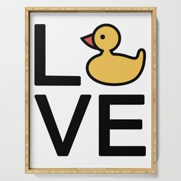 Love Ducks Very Cute And Funny Love Gift Idea Serving Tray