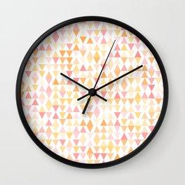 Boho Sunset Triangles Wall Clock