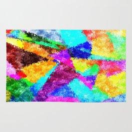 Formes géométriques multicolore Rug
