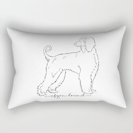 Afgan Hound sketch Rectangular Pillow
