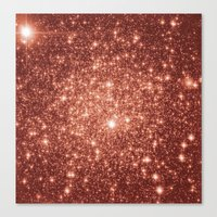 rose gold Canvas Prints featuring rose gold stars by GalaxyDreams