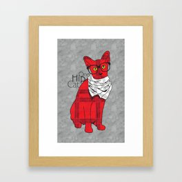 One Hip Cat Framed Art Print