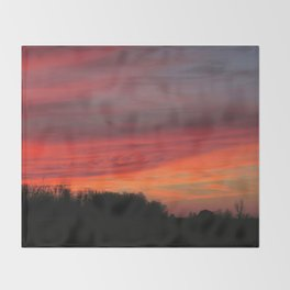 Winter Sunset Throw Blanket