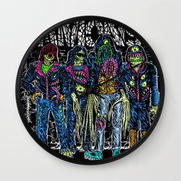 PUNK MONSTERS Wall Clock