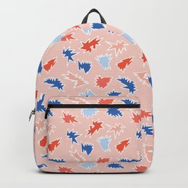 Memphis Style Abstract Scribbles Seamless Pattern Backpack