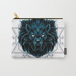 The Wild Lion sacred geometry Carry-All Pouch