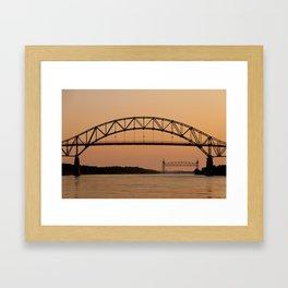 Bourne Bridge/Cape Cod Canal Framed Art Print