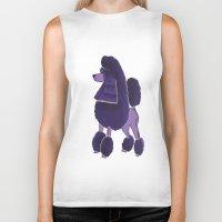 poodle Biker Tanks featuring Poodle Doodle by Jill Pace