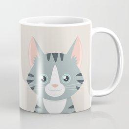 Grey Tabby Cat Coffee Mug