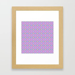 Swirl Heart Pattern Framed Art Print