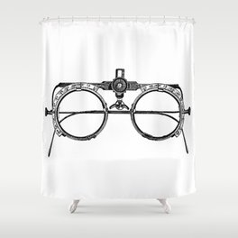 Glasses Shower Curtain