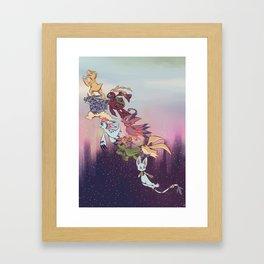 We're off! Framed Art Print