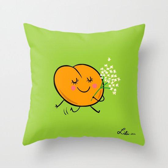 Apricot St Germain Throw Pillow