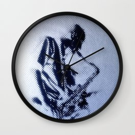 Sax Music Poster Wall Clock
