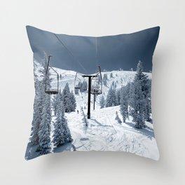 Mammoth Mountain: Chair 12 Throw Pillow