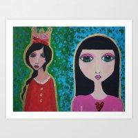 Darling Darlings Art Print