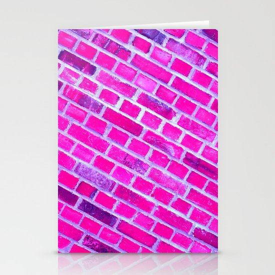 violet wall II Stationery Cards