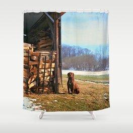 Remington, Yashica C, Ektar 100, Film, Medium Format Shower Curtain
